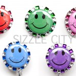 SIZZLE CITY Custom Retractable ID Badge Reels: Happy Faces