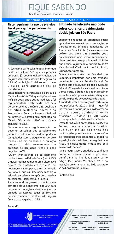 News n° 63- ano 2 - 26.08