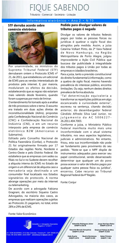 News n° 70- ano 2 - 18.09