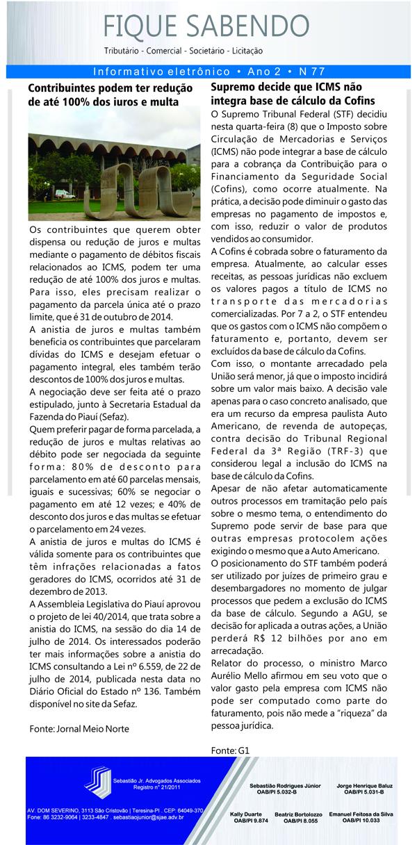 News n° 77- ano 2 - 09.10