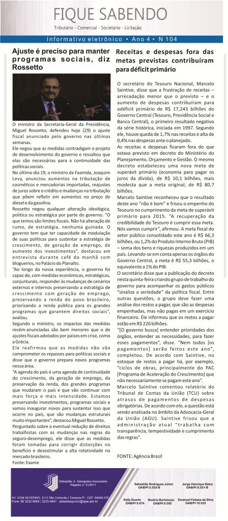 News n° 104- ano 4 -29.01