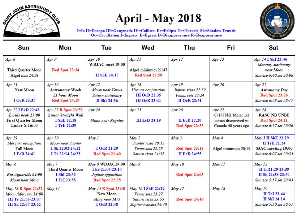SJAC-April-May-2018-Calendar - Saint John Astronomy Club