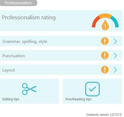 5 professionalism dash