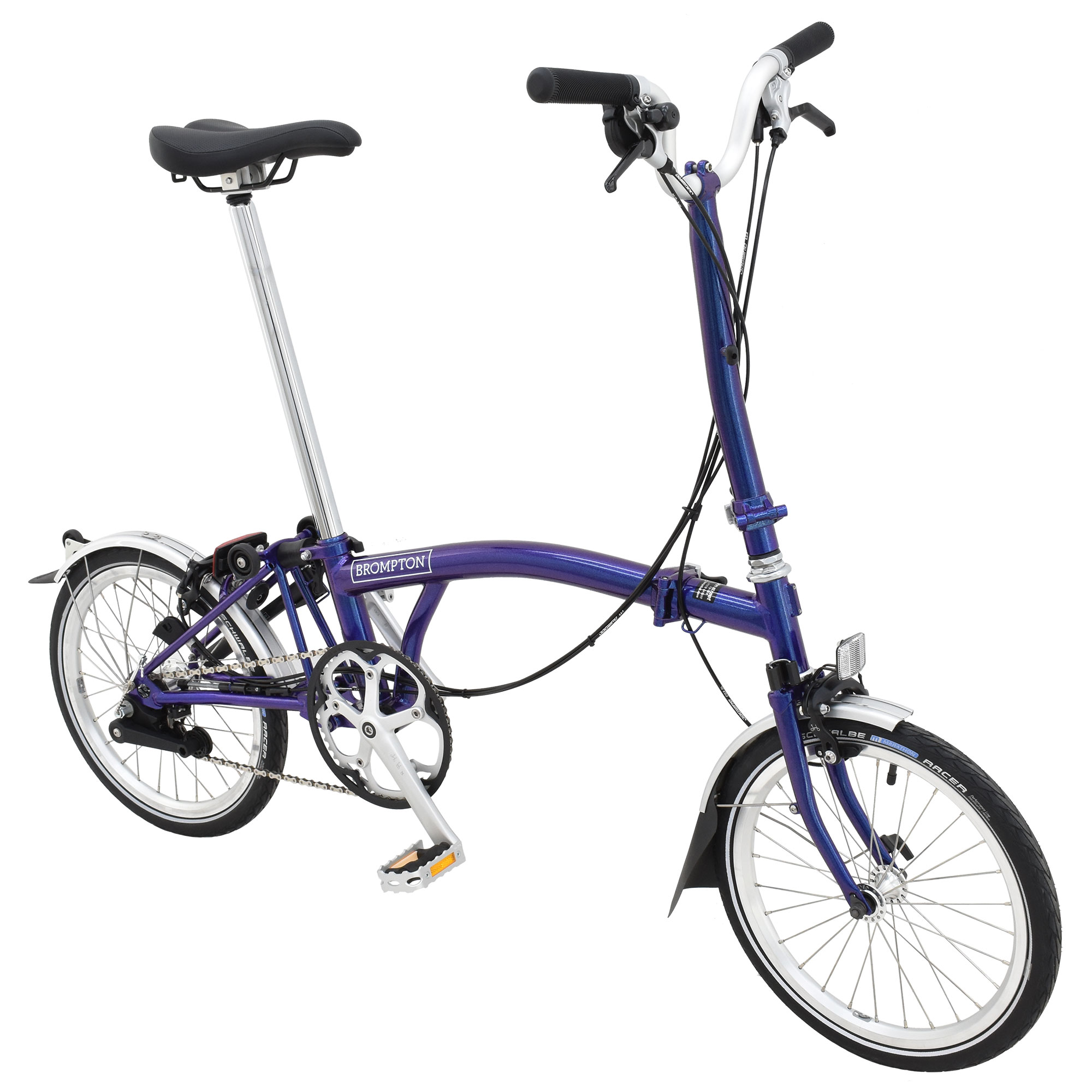 Brompton Bikes Brompton H6l Folding Bike Purple Metallic