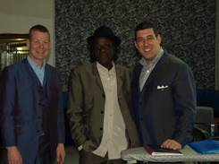 Neville Staples with Gary and Stuart from Ace Face Clothing