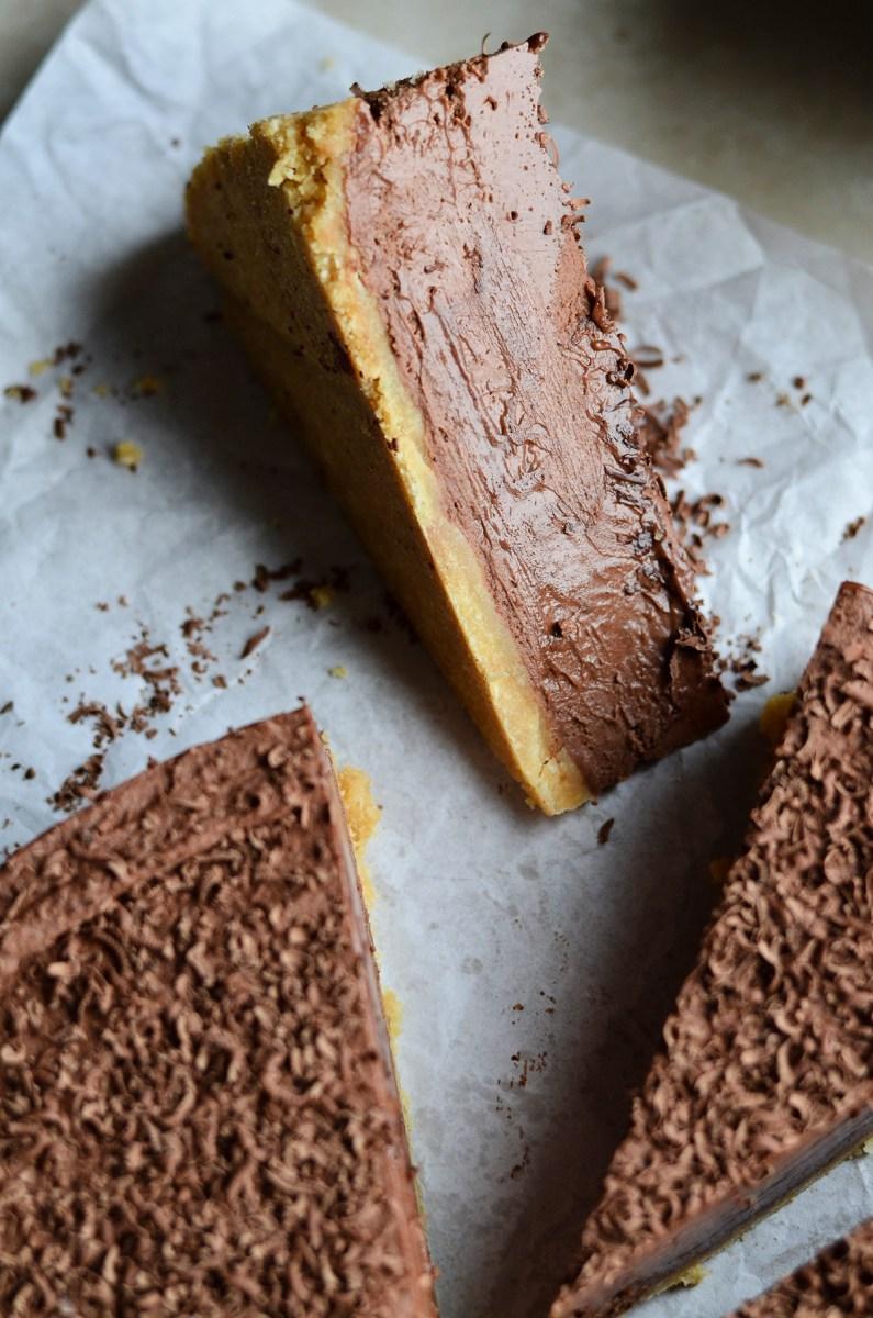 Nekeptas šokoladinis maskarponės pyragas