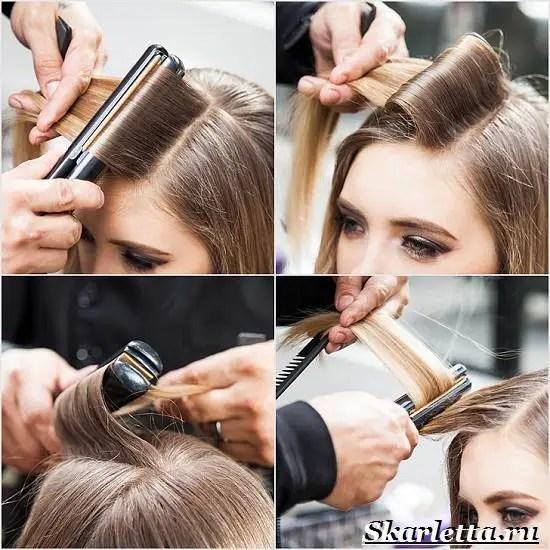 Как сделать короткий волос волнами 789