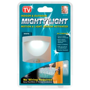Mighty Light the super- efficient, hand-free light that brings comfort and security to your home.
