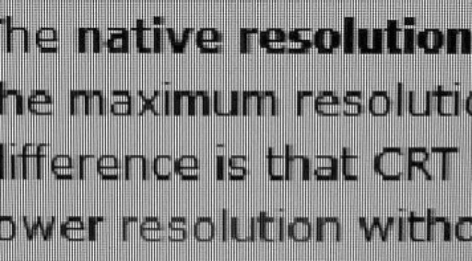 Native Resolution