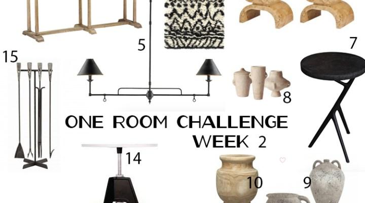 ONE ROOM CHALLENGE WEEK 2