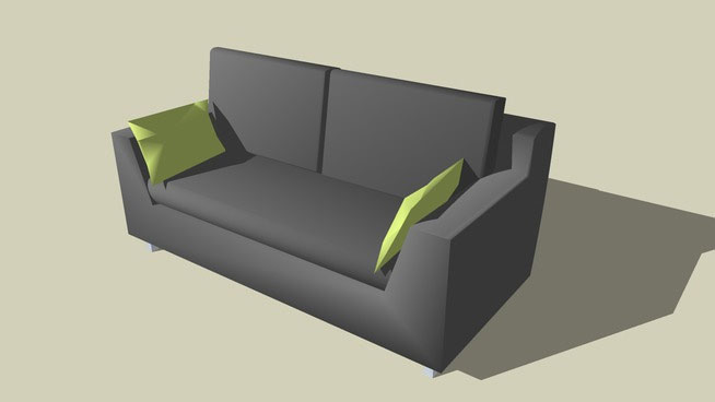 Urban Home Sofa Bed Sketchup Components 3d Warehouse - Axis Sofa | Sketchup