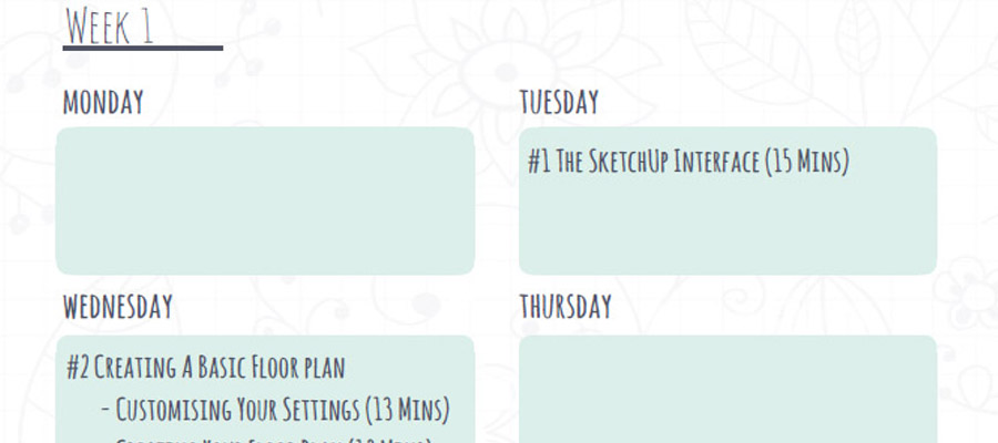 Download Our New Learning Schedule! \u2013 SketchUp Hub