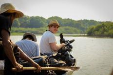 Tyler Filming on Mekong River