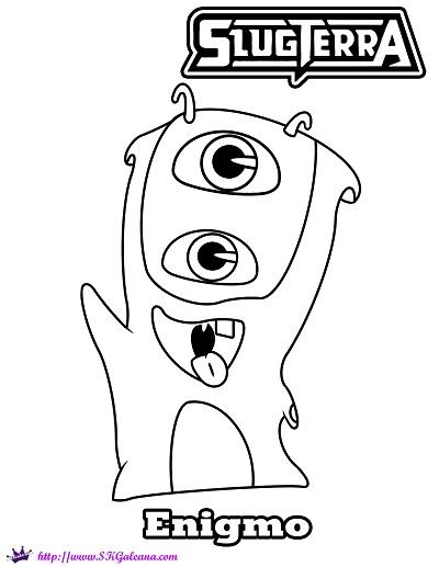 Mo The Enigmo Slug Coloring Page From Disneys XD