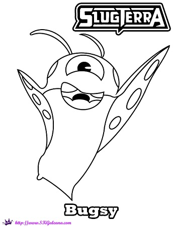 Bugsy, The Hoverbug from SlugTerra, Coloring Page | SKGaleana