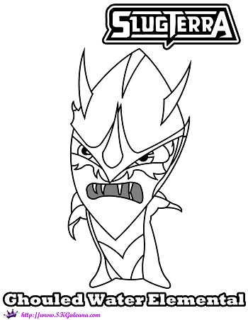 slugterra coloring pages tazerling ghoul - photo#31