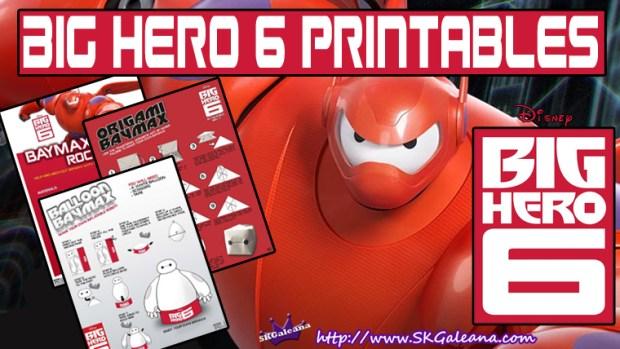 Free Big Hero 6 Printables Activities