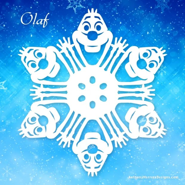 Frozen_snowflakes-Olaf-preview