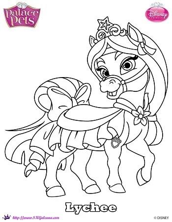 Disney princess palace pet coloring page of mulan 39 s pony for Princess pets coloring pages