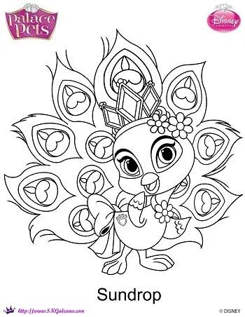 Free Princess Palace Pets Sundrop Coloring Page