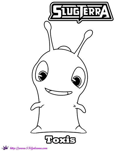 slugterra coloring pages of joules - photo#18