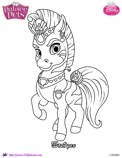 Stripes The Zebra Princess Palace Pets Coloring Page By Princess Palace Pet Coloring Pages