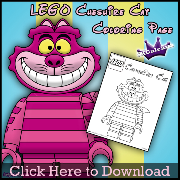 free lego cheshire cat printable coloring page skgaleana
