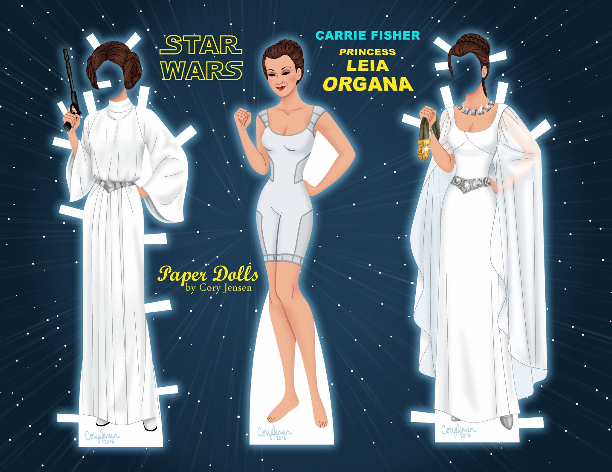 Printable Princess Leia Paper Doll by Cory | SKGaleana