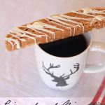Gingerbread Biscotti (with White Chocolate Icing)