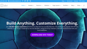 Screenshot Divi Theme: Bestes Multipurpose WordPress Theme 2016
