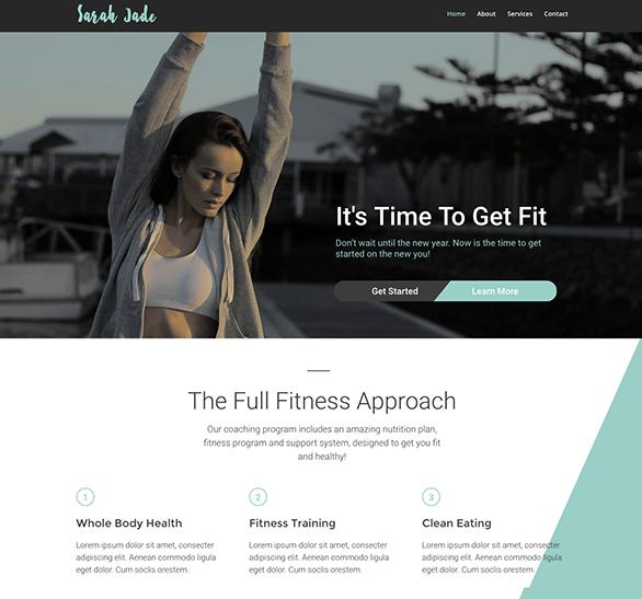Fitness WordPress Theme im Stil von Cross Fit Seiten