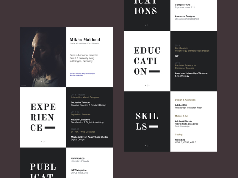 20 creative resume examples for your inspiration Skillroads - creative resume