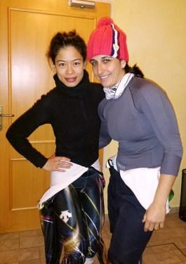 Мария и Ванеса преди старта в Словения