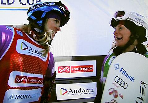 Сани и Доминик Малте на финала.