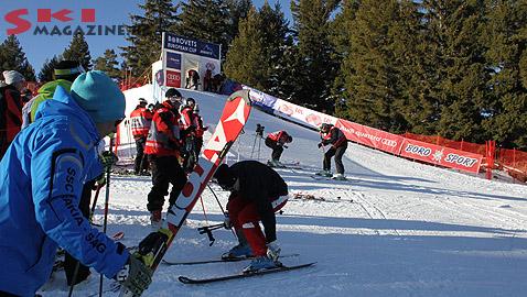 Стартовата къщичка, час преди състезанието. Снимка: Николай Дончев/BGLive/SkiMag
