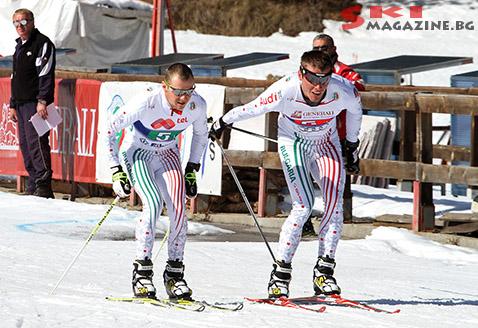 Андрей Гридин (вдясно) предава щафетата на Веселин Цинзов