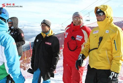 Рейс директора на състезанието Валентин Стефанов с реферите от FIS. Снимки: Николай Дончев/SkiMagazine