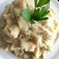 Roasted Garlic Cauliflower Mash