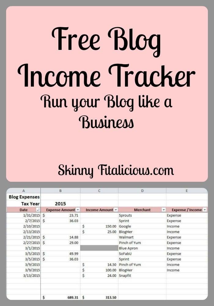 Run Your Blog Like A Business + A Free Income Tracker - Skinny