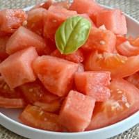 Tomato Balsamic Watermelon Salad