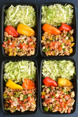 Inspiring Takeout Lowerin Calories Meal Prep Turkey Taco Bowls Are A Healthier Version Meal Prep Turkey Taco Bowls Low Skinny Ground Turkey Tacos El Paso Ground Turkey Tacos Cabbage