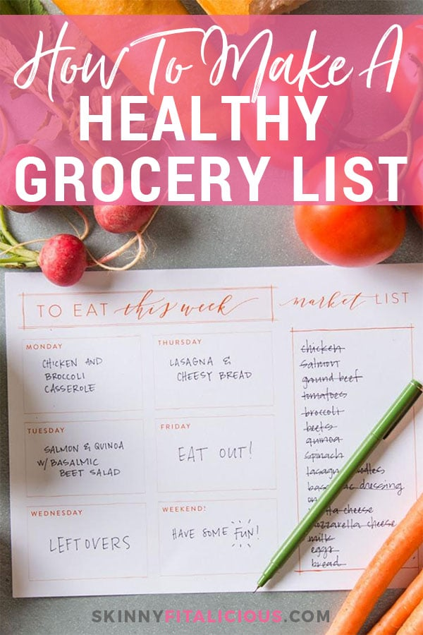 How To Make A Healthy Grocery Shopping List - Skinny Fitalicious - printable shopping list with categories