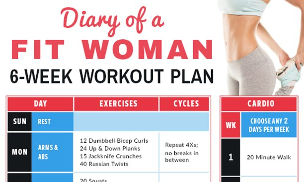 Diary of a Fit Woman 6-Week Workout Calendar