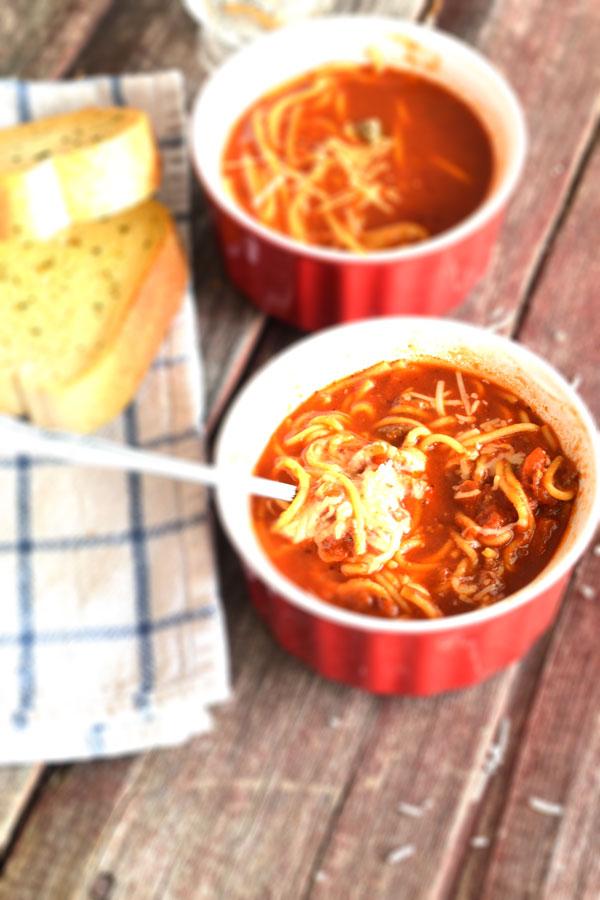 Spaghetti Soup, Italian Soup