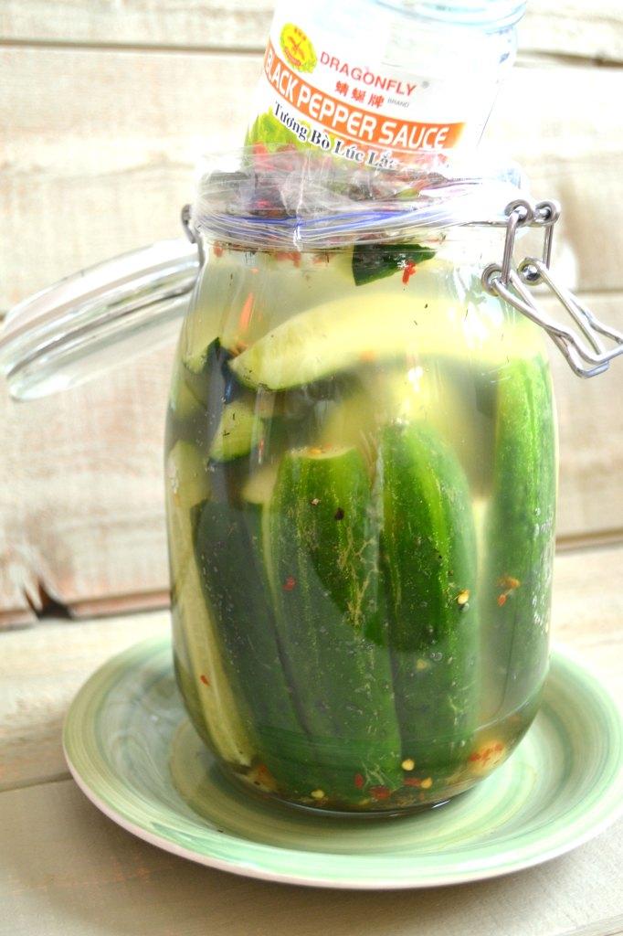 Probiotic Half Sour Pickles Recipe