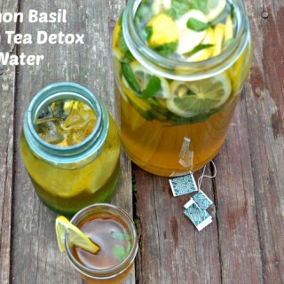 Lemon Basil Green Tea Detox Water