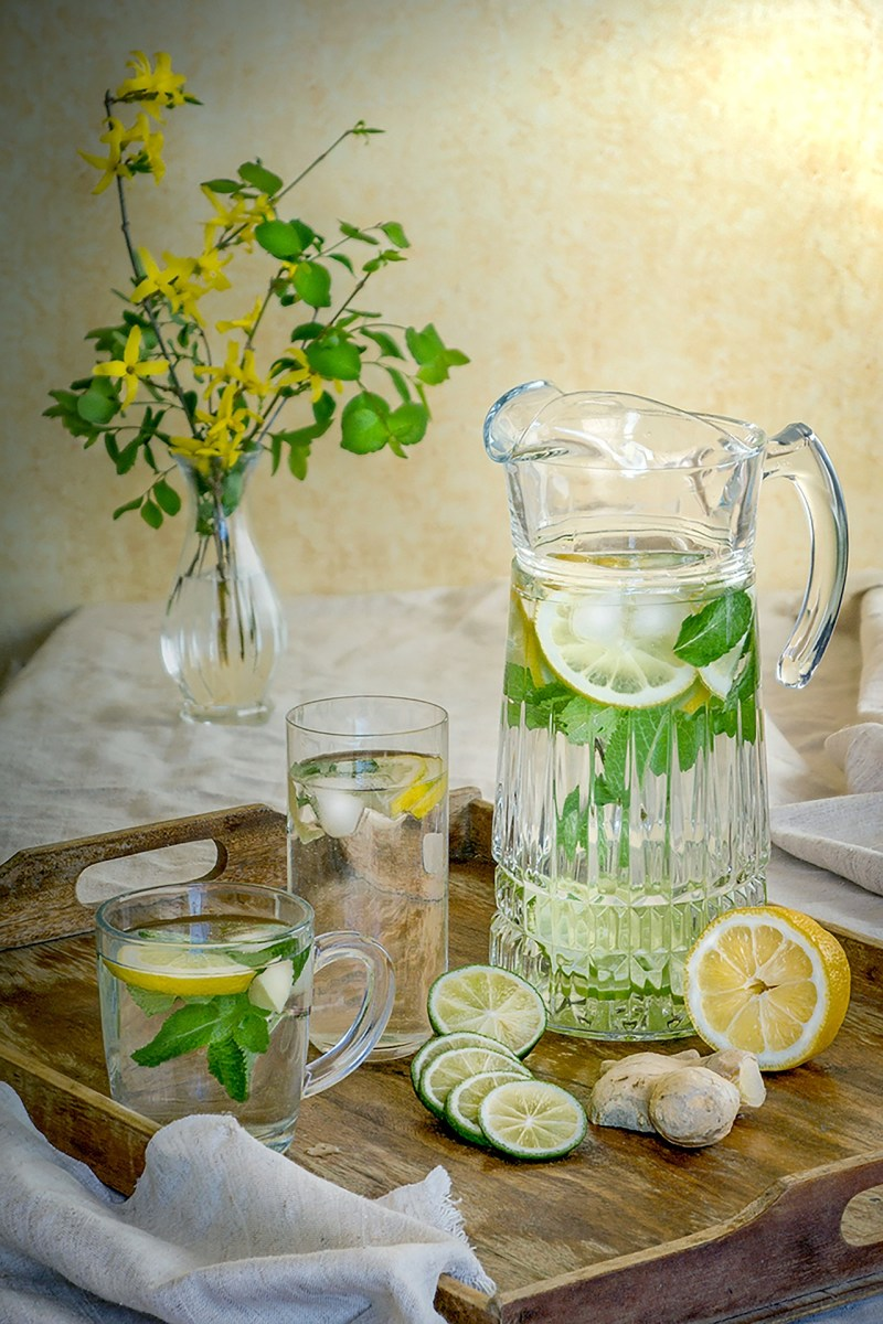 Lemon Mint Ginger Water For Weight Loss (Flat Tummy)