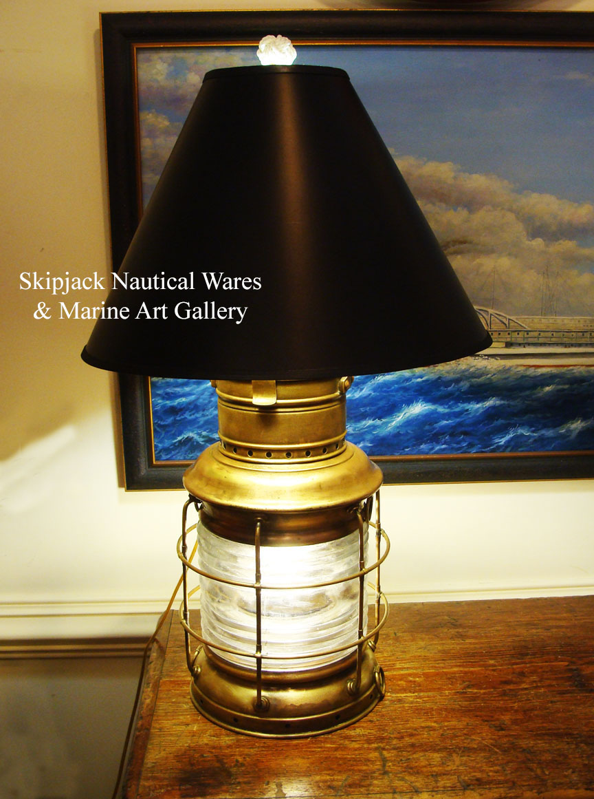 Vintage Table Lamps Large Vintage Brass Nautical Anchor Lantern Table Lamp