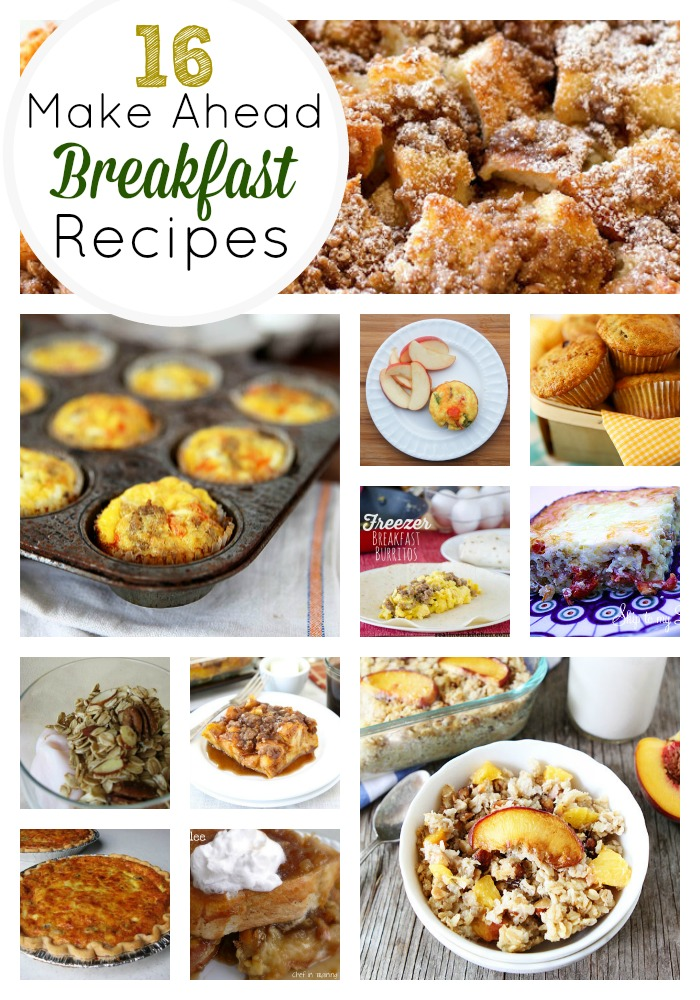 Ideen Für Frühstück 16 Amazing Make Ahead Breakfast Recipes | Skip To My Lou