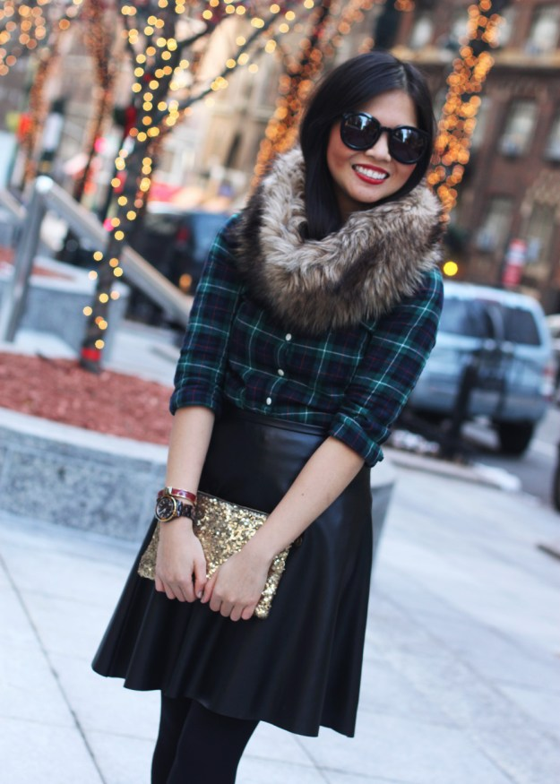 Plaid, Leather & Faux Fur